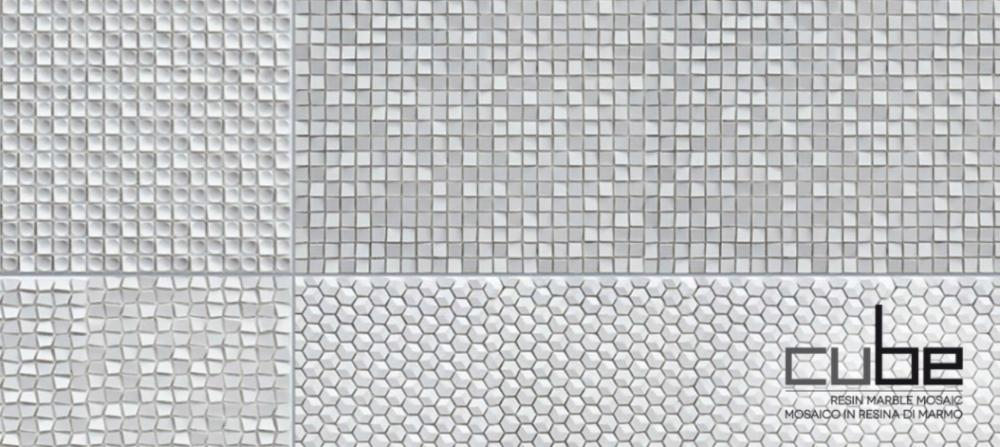 Mosaici tridimensionali Cube di Made +39