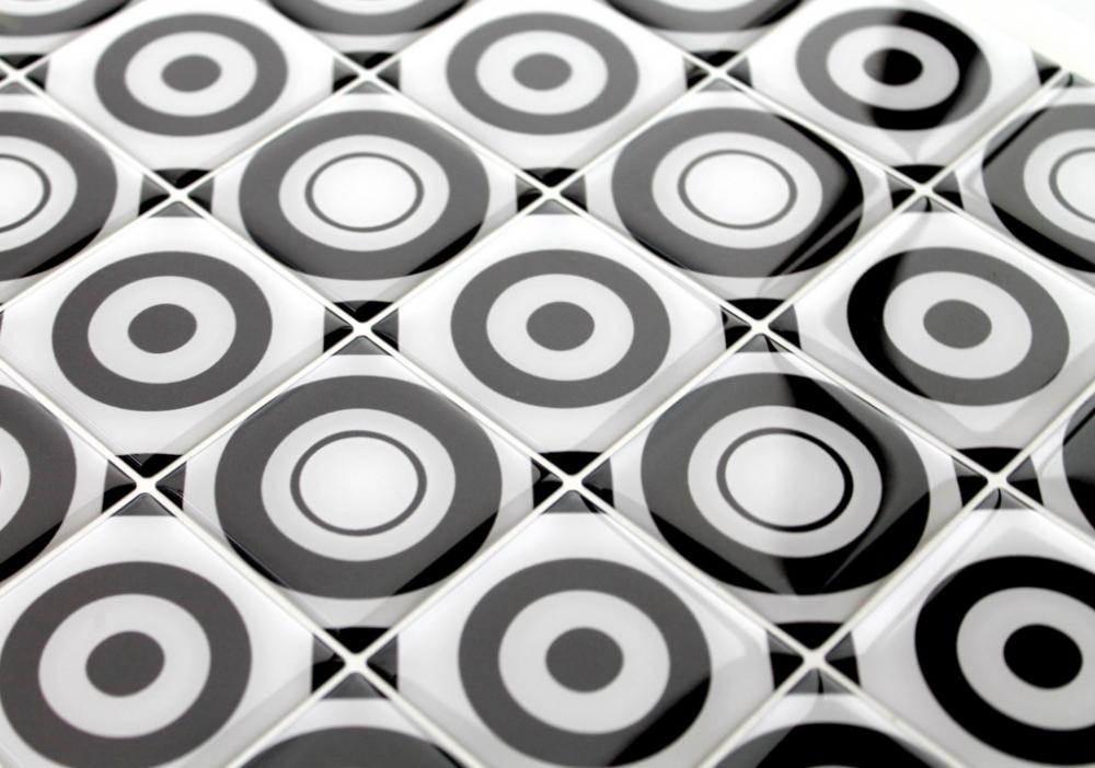 Mosaici 3d di resina Black & White by Gemanco Design