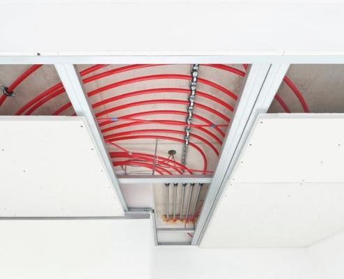 Climatizzazione ecologica:Pannello radiante a soffitto Rheau