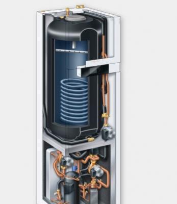 Climatizzazione ecologica: particolare interno pompa di calore Wiesmann
