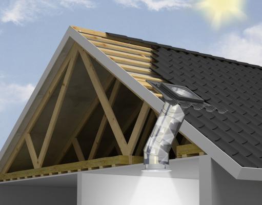 Solar tube sezione tetto Velux