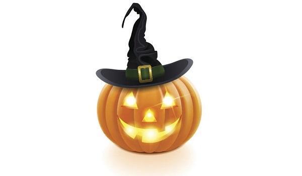 Zucca di Halloween illuminata