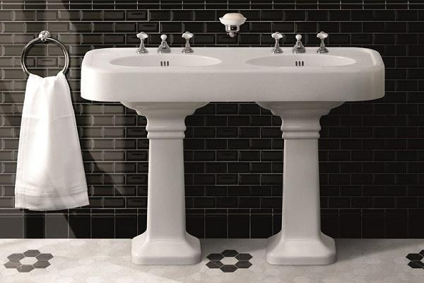 Mobili bagno vintage: doppio lavabo Brooklyn di Devon&Devon