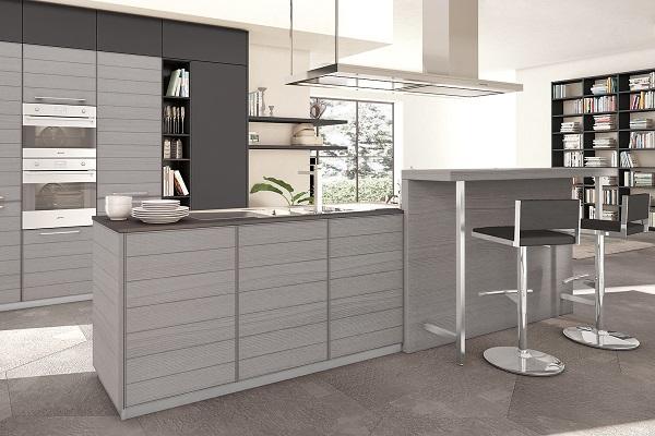 Cucina contemporanea Adele Project di Lube in grigio