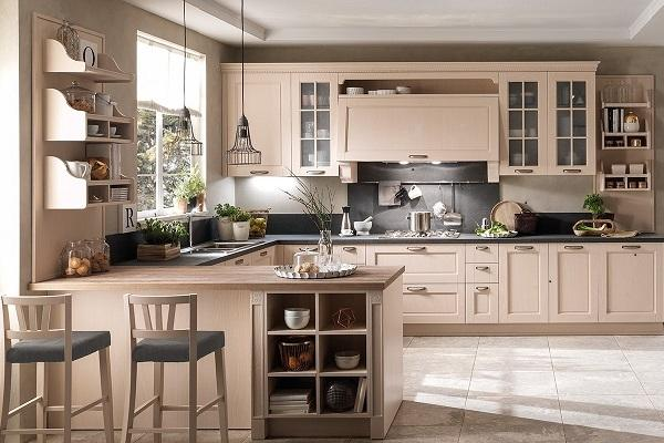 Cucine contemporanee Virginia di Stosa in beige