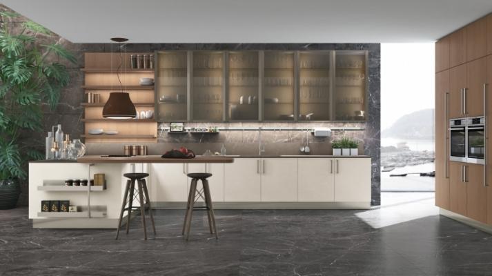 Cucina moderna penisola LUBE