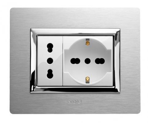 Placche in alluminio ave for Altezza prese elettriche