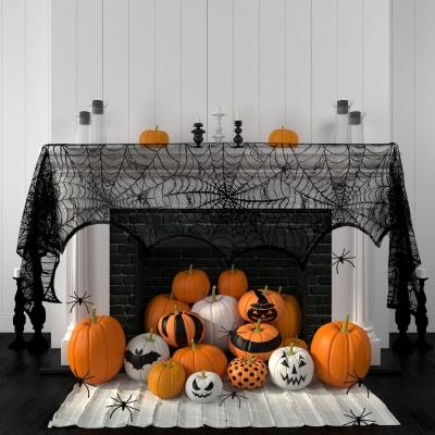 Decorazioni di Halloween: ragnatela di pizzo percamino