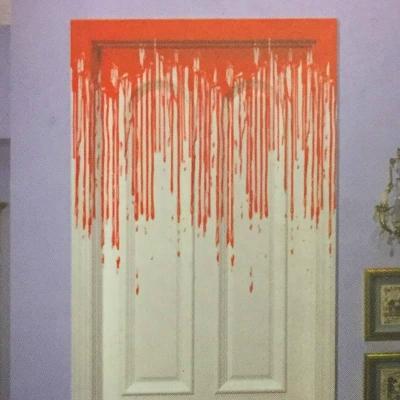 Decorazioni Halloween sangue sulla porta di Feste Mix