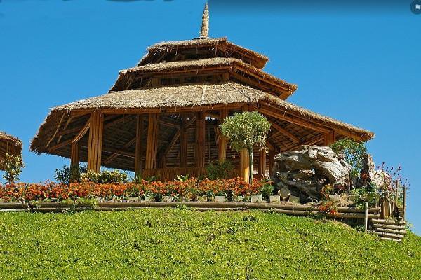 Costruzione in bambù thailandese