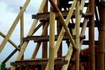 Scala con struttura portante in bambù