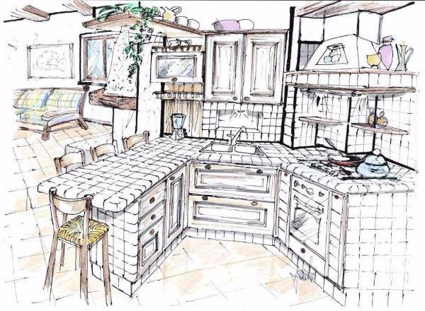 Progetto Cucina In Muratura. Download By Tablet Desktop Original ...