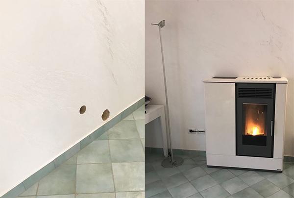 Installazione stufa a pellet Enkos srl