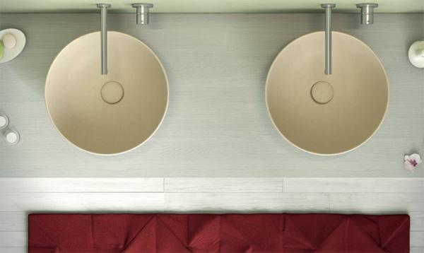 Lavabo T Edge di Ceramica Globo