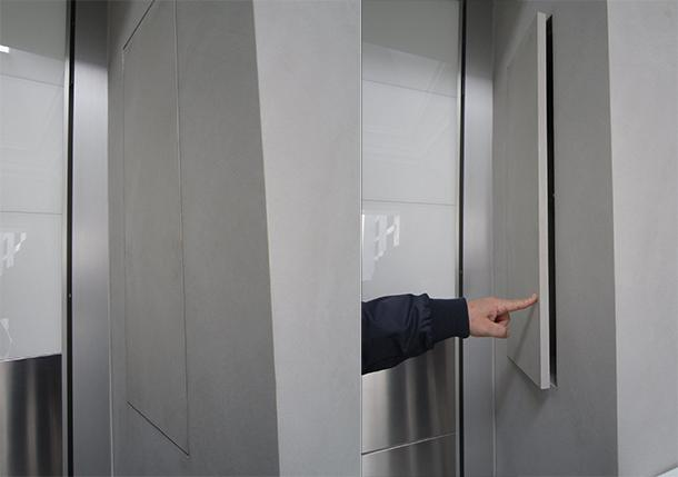 Contenitori interno cabina filo muro Enkos srl