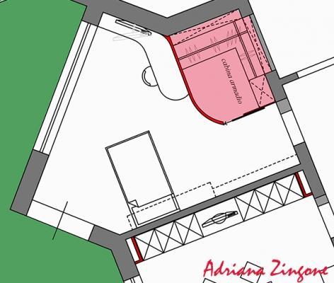 Progetto cabina armadio in camera