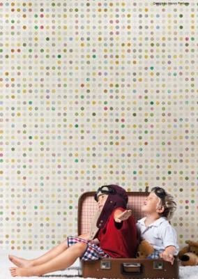 Carta da parati acquerellata-pois Tecnografica Italian Wallcoverings
