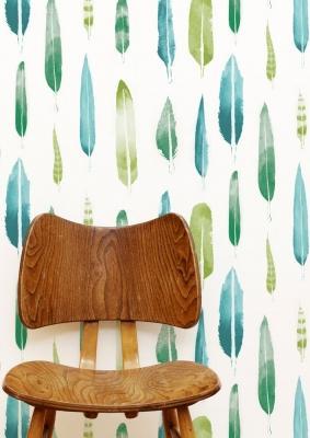 Carta da Parati acquerellata modello foglie di Mini Moderns®