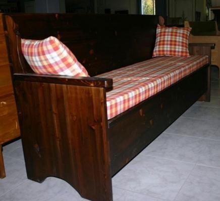 Panca in legno stile country, Fratelli Lusardi