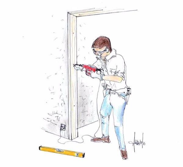 Montaggio porta a scrigno porta scorrevole a scomparsa - Montare una porta a soffietto ...