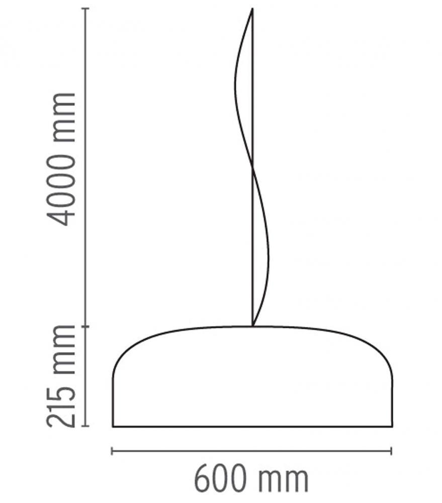Schema lampada a sospensione Smithfield di Flos