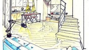 Idee per progettare un soggiorno con angolo cottura in 15 mq