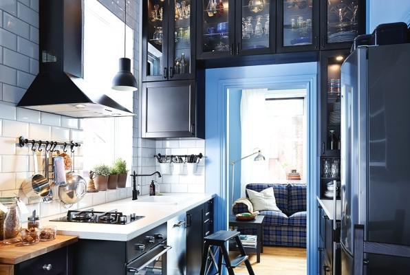Ikea cucina piccola comunicante con il salotto