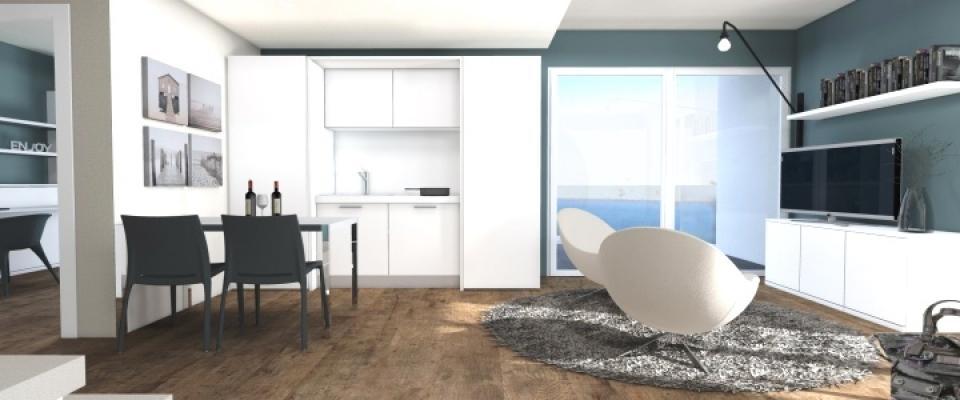 Soggiorno con angolo cottura 15 mq - Idee per arredare soggiorno con angolo cottura ...