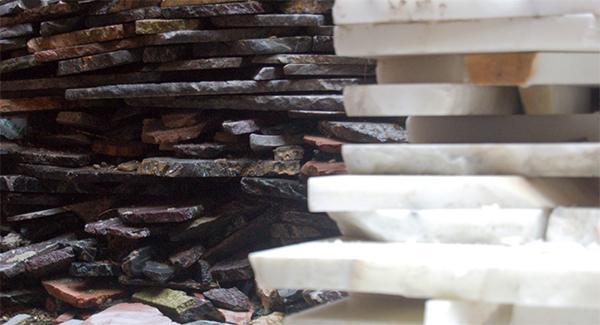 Materie prime dei pavimenti alla veneziana. Dal sito di Terrazzi veneziani s.r.l.