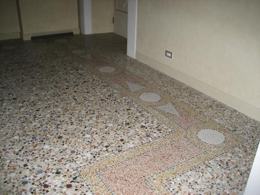Pavimento alla veneziana tradizionale realizzato da Asin Erminio.