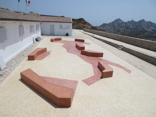 Terrazzo moderno con Italia stilizzata by Asin Erminio.