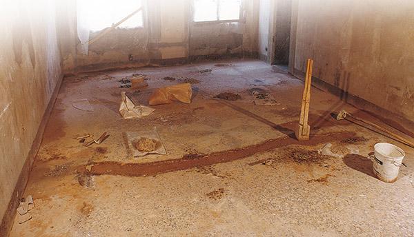Il restauro di un pavimento alla veneziana, di Asin Erminio