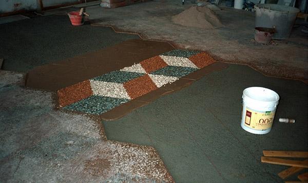 Integrazione delle lacune di un pavimento alla veneziana, by Luca Mezzini