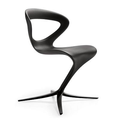 Sedia Callita Chair nera monoscocca