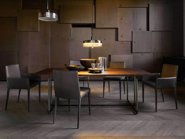 Sedia legno e cuoio BELLA GM - FRAG
