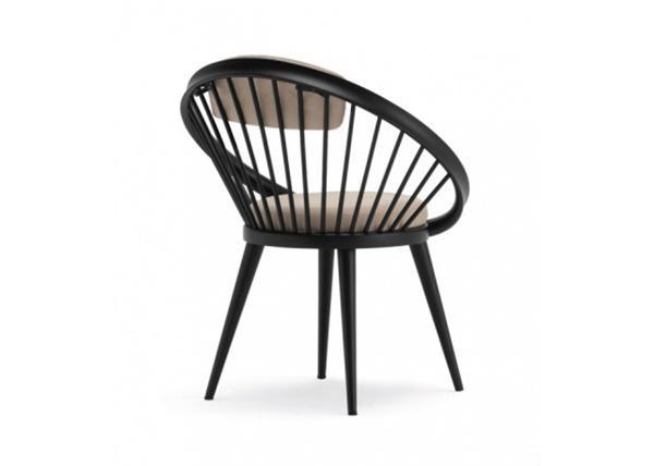 Sedia legno e cuoio CIRCLE- Artleather