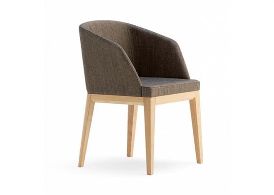 Sedia legno e cuoio Domus- Artleather