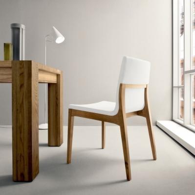 Sedia  legno e pelle Lula- Italia Mobili