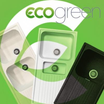 Modello ecogreen di lavelli antibatterici by Plados - Telma