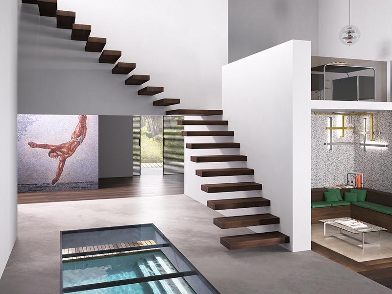 Scale per interni for Gradini in legno prezzi