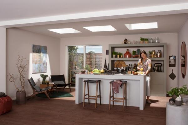Finestra per tetti piani ambiente cucina