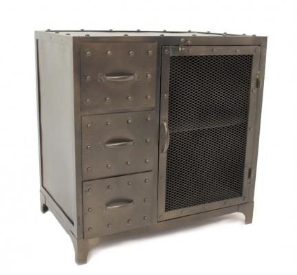Cassettiera industrial style in metallo di Casamata