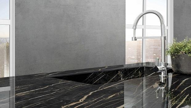 Lavello rivestito in materiale ceramico, di Laminam