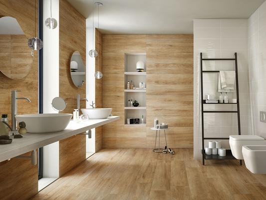 Gres porcellanato effetto legno - Piastrelle bagno legno ...