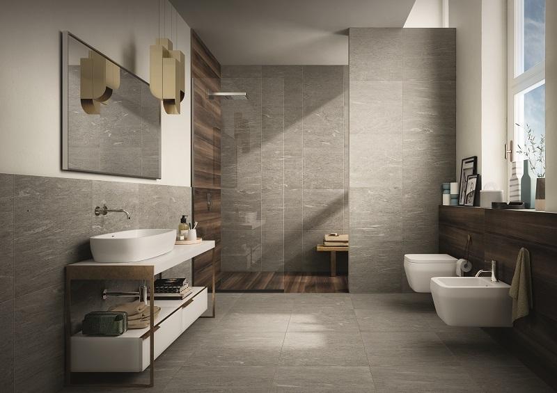 Rivestimento bagno effetto legno e pietra il legno in bagno come e quando usarlo a casa di - Piastrelle pietra bagno ...