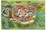 Tappeto gioco con castello medievale di Borgione.
