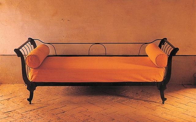 Divano-letto in ferro battuto Barca di Caporali