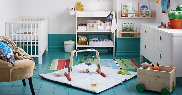 Cameretta montesoriana di Ikea per bambini in età da asilo nido