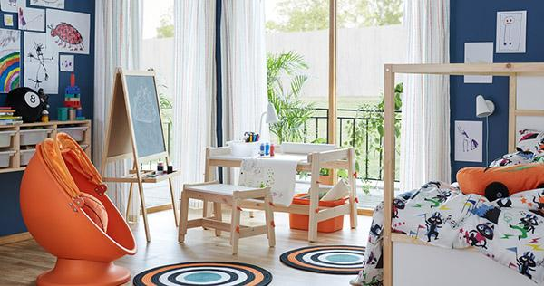 Cameretta montesoriana di Ikea per bambini in età da scuola materna
