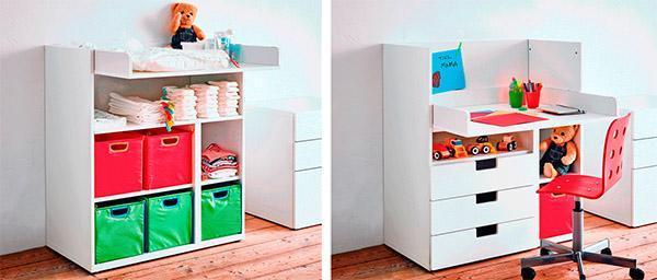 Mobile Stuva di Ikea: da fasciatoio a scrivania